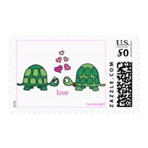 cute love turtle stamp