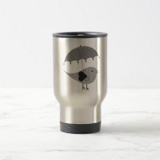 Cute Lovebird with Umbrella Travel Mug