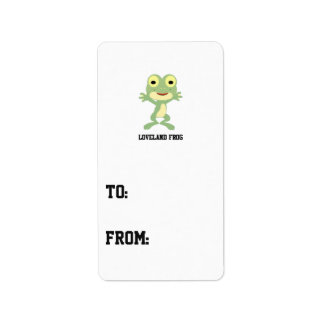 Cute Loveland Frog Label
