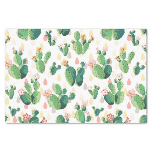 Cute Lovely Cactus Tissue Paper