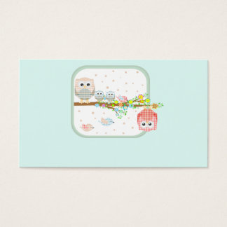 cute lovely fun zoo kindergarden business card