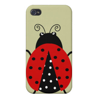 Cute Lovely Red Ladybug iPhone 4 Case