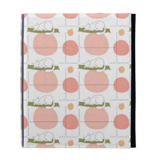 Cute Lovely Sleeping Cat Pattern iPad Folio Case