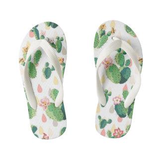 Cute Lovely Succulent Cactus Flip Flop Kids