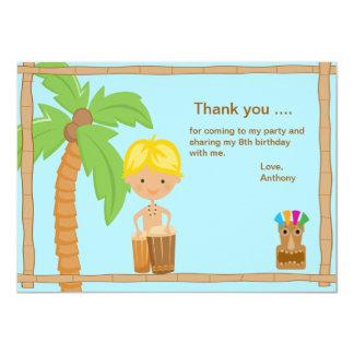 Cute Luau Boy Thank You Card