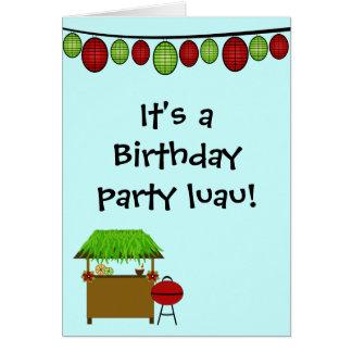 Cute luau boys birthday party invitation card