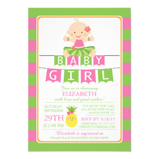 Girls Luau Baby Shower Invitations Announcements Zazzle