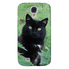 Cute Lucky Black Cat On Galaxy S4 Case at Zazzle