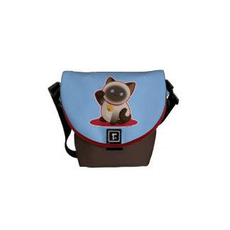 Cute Lucky Cat Messenger Bag