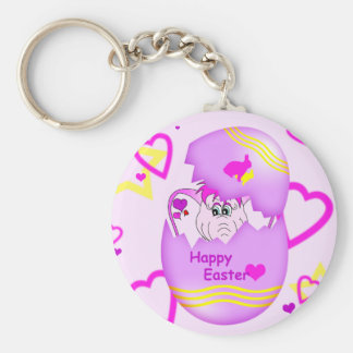 Cute Lucky Pinkie Happy Easter Keychain