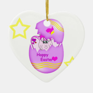 Cute Lucky Pinkie Happy Easter Ornament