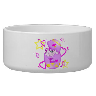 Cute Lucky Pinkie Happy Easter Pet Bowl