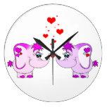 Cute Lucky Pinkie Pink Elephant Clock