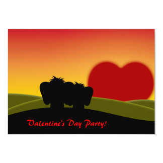 Cute Lucky Pinkie Valentine's Day Party Invitation