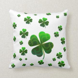 Cute Lucky Shamrocks Pillow