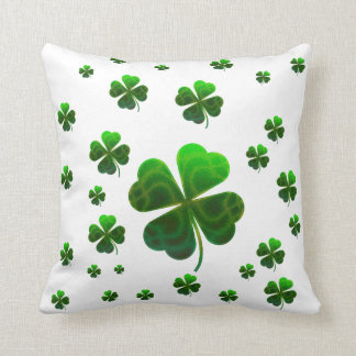 Cute Lucky Shamrocks Throw Pillow
