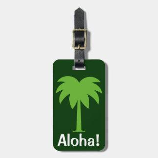 Cute Luggage tag with palm tree   Aloha!