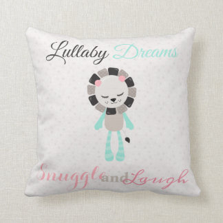 Cute Lullaby Dream Laugh Decor Neutral Lion Throw Pillow
