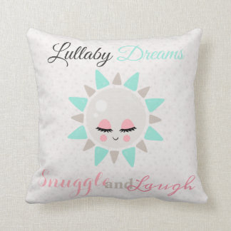 Cute Lullaby Dream Laugh Decor Neutral Sun Throw Pillow