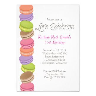 Cute Macaron Birthday Invitation