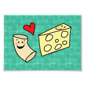 Cute Macaroni Loves Cheese Art Print Photo Print