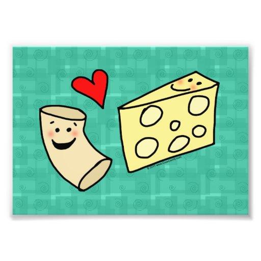 Cute Macaroni Loves Cheese Art Print Photograph