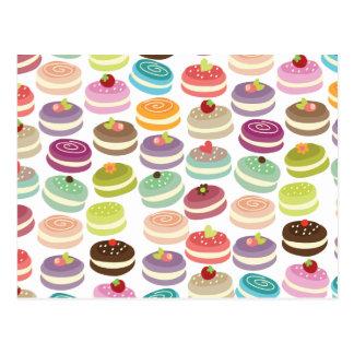 Cute Macarons Pattern Postcard