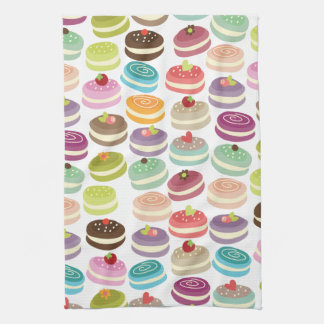 Cute Macarons Pattern Towel