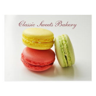 Cute Macaroons Custom Bakery Postcard