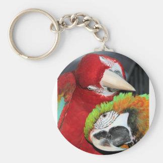 Cute macaws keychain