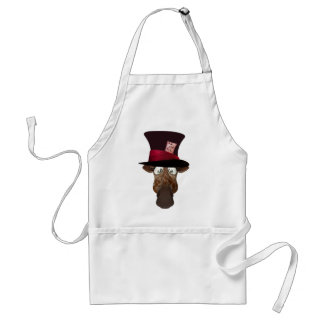 Cute Mad Hatter Giraffe Adult Apron