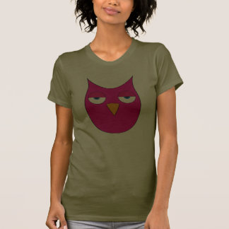 Cute magenta Owl - So what? Tee Shirts