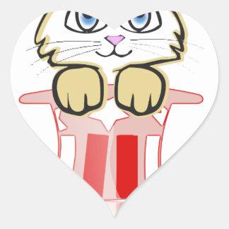 cute magic cate heart sticker