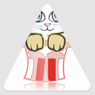 cute magic cate triangle sticker