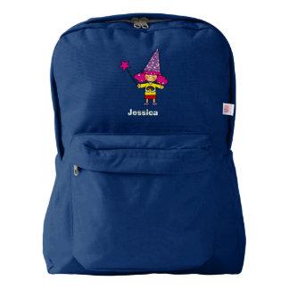 cute magic wizard princess girl backpack
