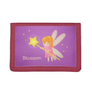 Cute Magical Fairy with Wand, For Girls Trifold Wallets