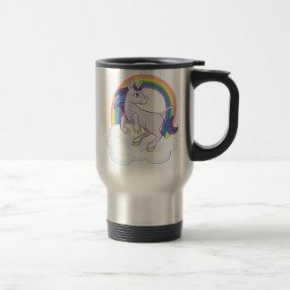 Cute Magical Rainbow Unicorn 15 Oz Stainless Steel Travel Mug