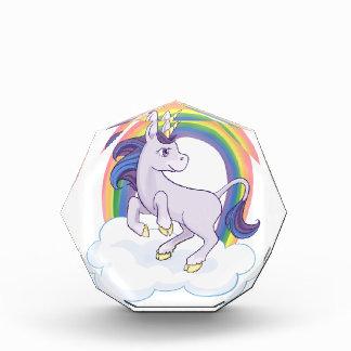 Cute Magical Rainbow Unicorn Acrylic Award
