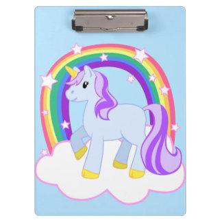 Cute Magical Rainbow Unicorn Clipboard