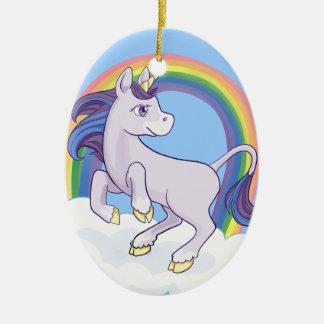 Cute Magical Rainbow Unicorn Christmas Ornament