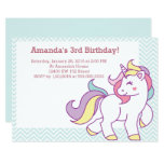 Hand shaped Cute Magical Unicorn Pastel GIRL Animals Birthday Card