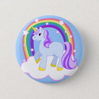 Cute Magical Unicorn with rainbow (Customizable!) Pinback Button