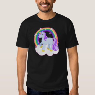 Cute Magical Unicorn with rainbow (Customizable!) Tshirt