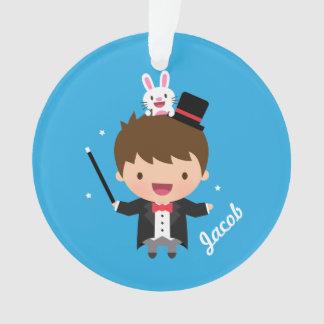 Cute Magician Magic Bunny Trick For Kids Ornament