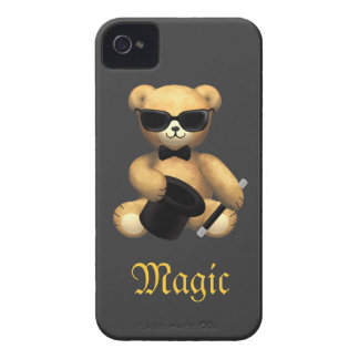 Cute Magician Teddy Bear - Magic Case-Mate iPhone 4 Case