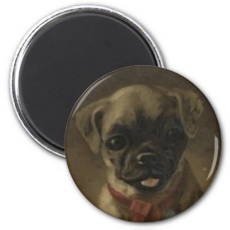 Cute Magnet With Vintage Little Puppy