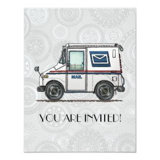 Cute Mail Truck 4.25x5.5 Paper Invitation Card