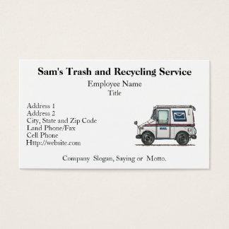 Cute Mail Truck Business Card