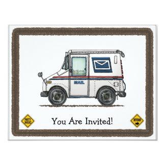 Cute Mail Truck Card