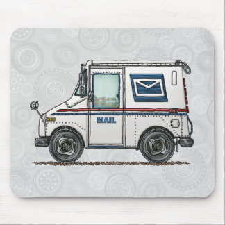 Cute Mail Truck Mouse Pad